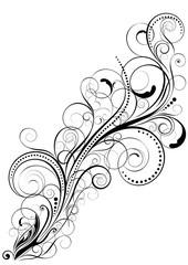 Retro diagonal floral design