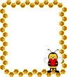 Obrazy na płótnie, fototapety, zdjęcia, fotoobrazy drukowane : Bee Frame