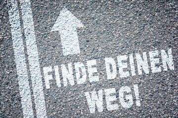 Finde Deinen Weg Straße Pfeil