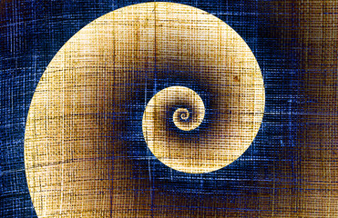 Helix on a rough fabric - spirally concept