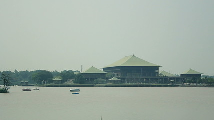 Sri Lanka office building of Colombo lake