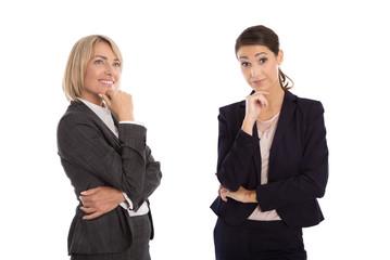 Frauen: Optimist und Pessimist Körpersprache
