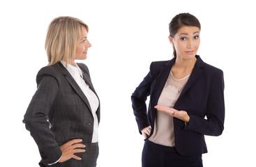 Unverständnis und Konflikt unter Frauen: freigestellt business