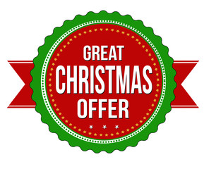 Great Christmas offer badge