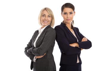 Erfolgreiche Geschäftsfrauen im Team isoliert