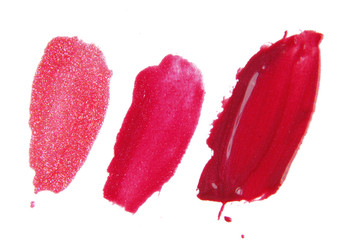 lipstick  liquid  isolated on white