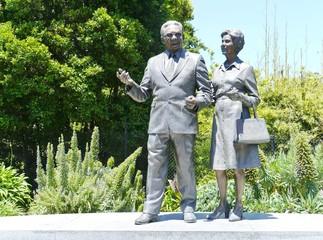 Statue of pastor sir douglas and lady gladys Nicholls