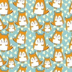 beautiful pattern with cute fox
