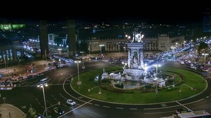 Barcelona Plaza España Time Lapse