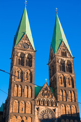 Historic town hall and the cathedral in Bremen, Germany