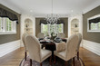 Dining room with white cabinetry - 72744311