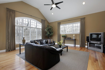 Family room with large picture window