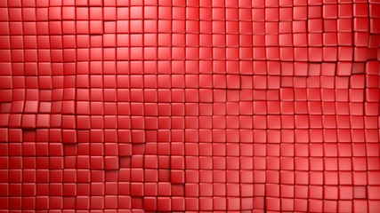 plastic red cubes background