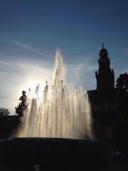 fontana di piazza castello, milano