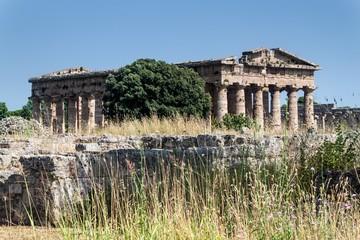 Ruins of ancient greek city Paestum