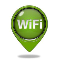 wifi pointer icon on white background