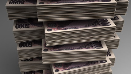Stack of Japanese Yen