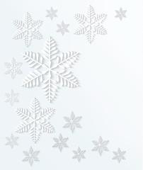 Snowflake background. Vector.