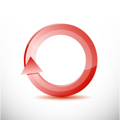 red rotating cycle illustration design