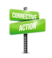 corrective action street sign illustration