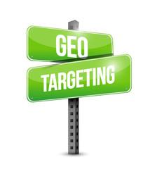 geo targeting street sign illustration