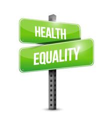health equality street sign illustration