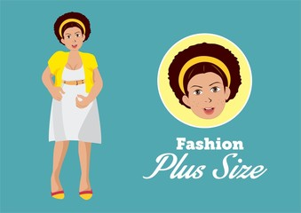 Fashion Plus Size Girl