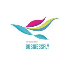 Businessfly - vector logo. Bird illustration. Logo template.