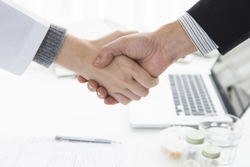 Doctor and salesman that was established contract