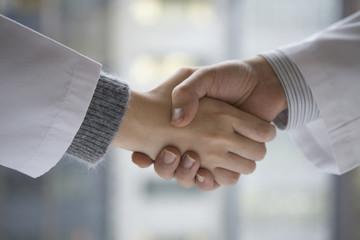 Handshake between doctor