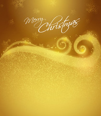 Christmas winter background - Golden