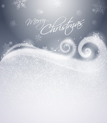Christmas winter background - Silver