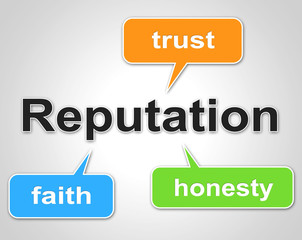 Reputation Words Shows Believe In And Faith