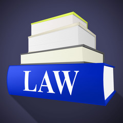 Law Book Shows Legality Lawyer And Court