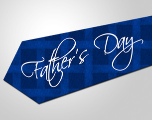 Fathers Day Tie Means Greeting Joy And Fun