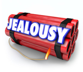 Jealousy Word Envy Resentment Time Bomb Explosive Anger Danger