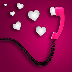Romantic Call Indicates Text Space And Chat