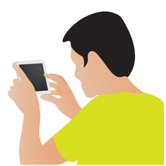 take a photo by mobile phone vector design