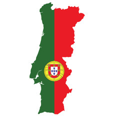 Flag and coat of arms of the Portuguese Republic