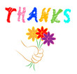 Thanks Flowers Shows Blooming You And Florist