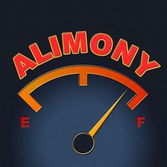 Alimony Gauge Shows Divorced Indicator And Divorce