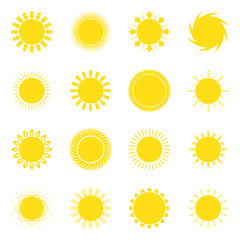 Sun icon set vector illustration