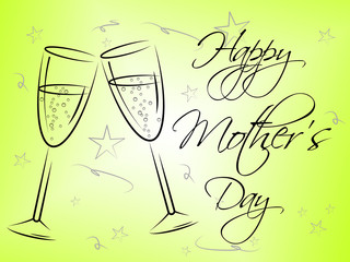 Happy Mother's Day Represents Mummy Mum And Joy