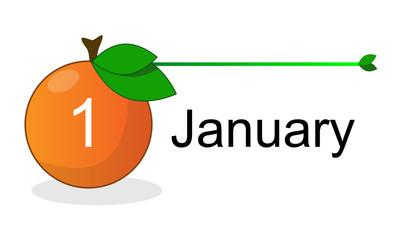 Flat Calendar Icon for Applications Vector