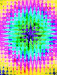 A colorful tie dye psychedelic background