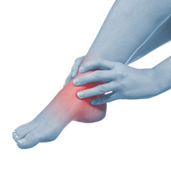 Pain in woman hamstring