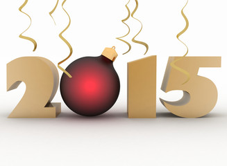 2015 year. Isolated 3D image