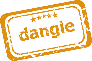 dangle word on rubber old business stamp