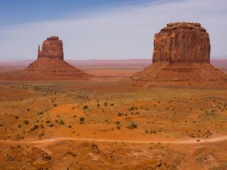 Monument valley under bright sun