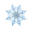 canvas print picture - Toy snowflake